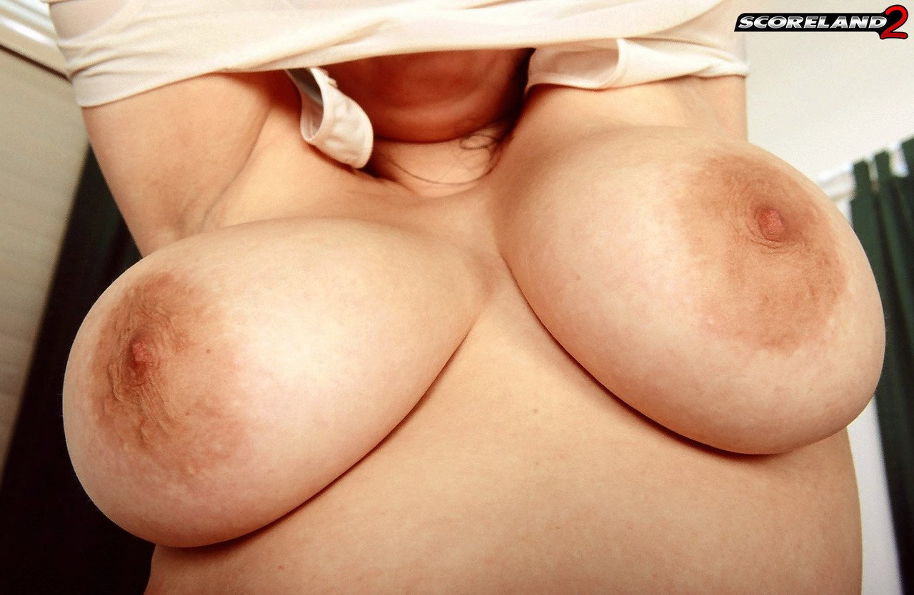 Thick chick Angelica Raven unleashes her great tits before a POV blowjob