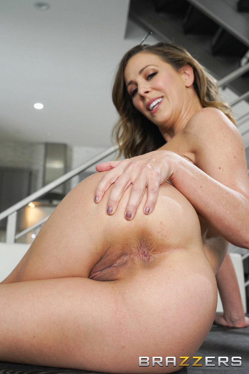 Fantastic MILF Cherie Deville gives a blowjob before a hardcore ass ramming
